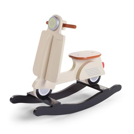 Childhome Stylizowany bujak - skuter kremowy