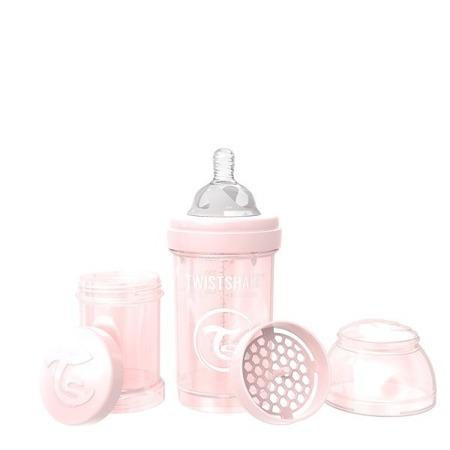 Twistshake Antykolkowa butelka do karmienia 180ml perłowy róż