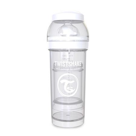 Twistshake Antykolkowa butelka do karmienia 260ml biała