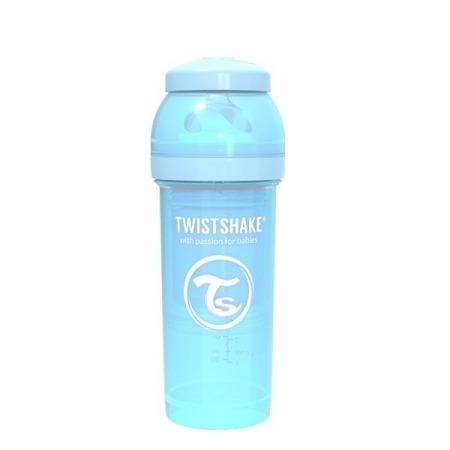 Twistshake Antykolkowa butelka do karmienia 260ml pastelowy niebieski