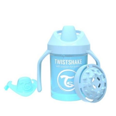 Twistshake  Kubek niekapek z uchwytami i mikserem do owoców 230 ml pastelowy niebieski