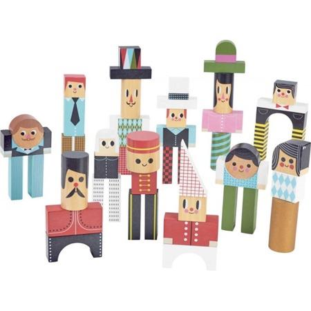 Vilac Klocki drewniane 50 sztuk Postacie