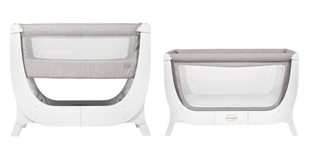 Łóżeczko dla dziecka 2w1 Shnuggle AIR Complete Sleep System - stone