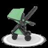 Greentom REVERSIBLE Wózek spacerowy eko czarno-miętowy